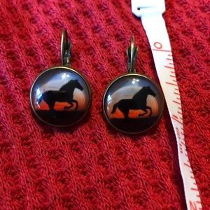 Beautiful horse earrings